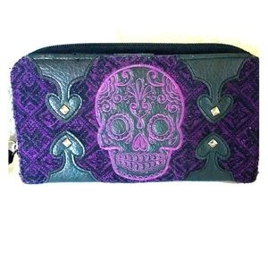 Loungefly Day of the Dead Sugarskull Wallet Clutch